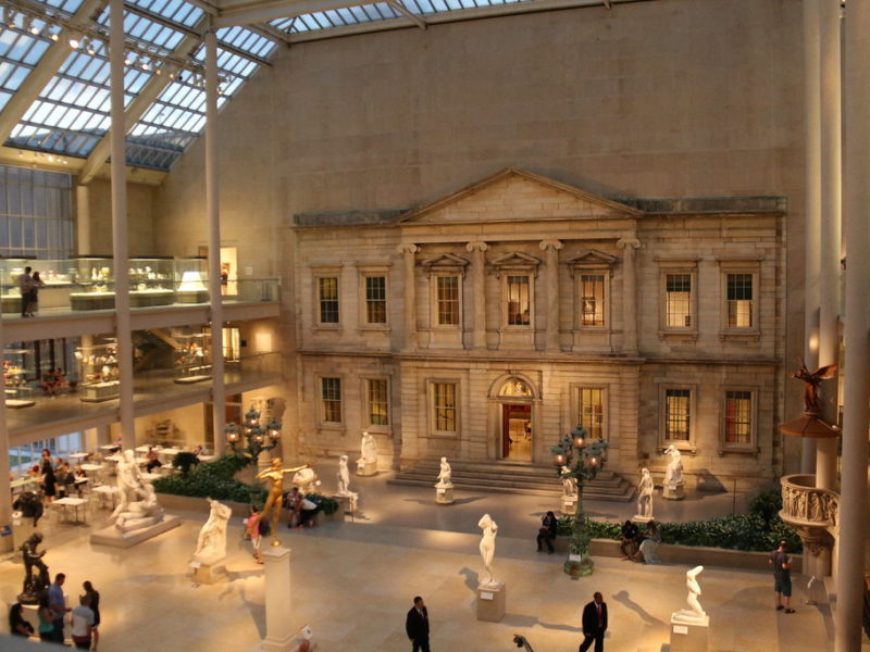 A view of an open gallery at the Metropolitan Museum of Art in New York